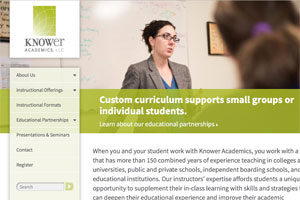 Knower Academics: Website