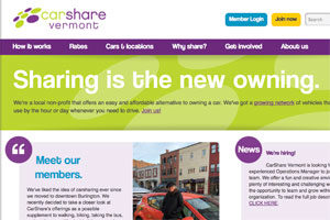 CarShare Vermont: Website