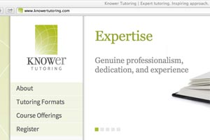 Knower Tutoring: Website