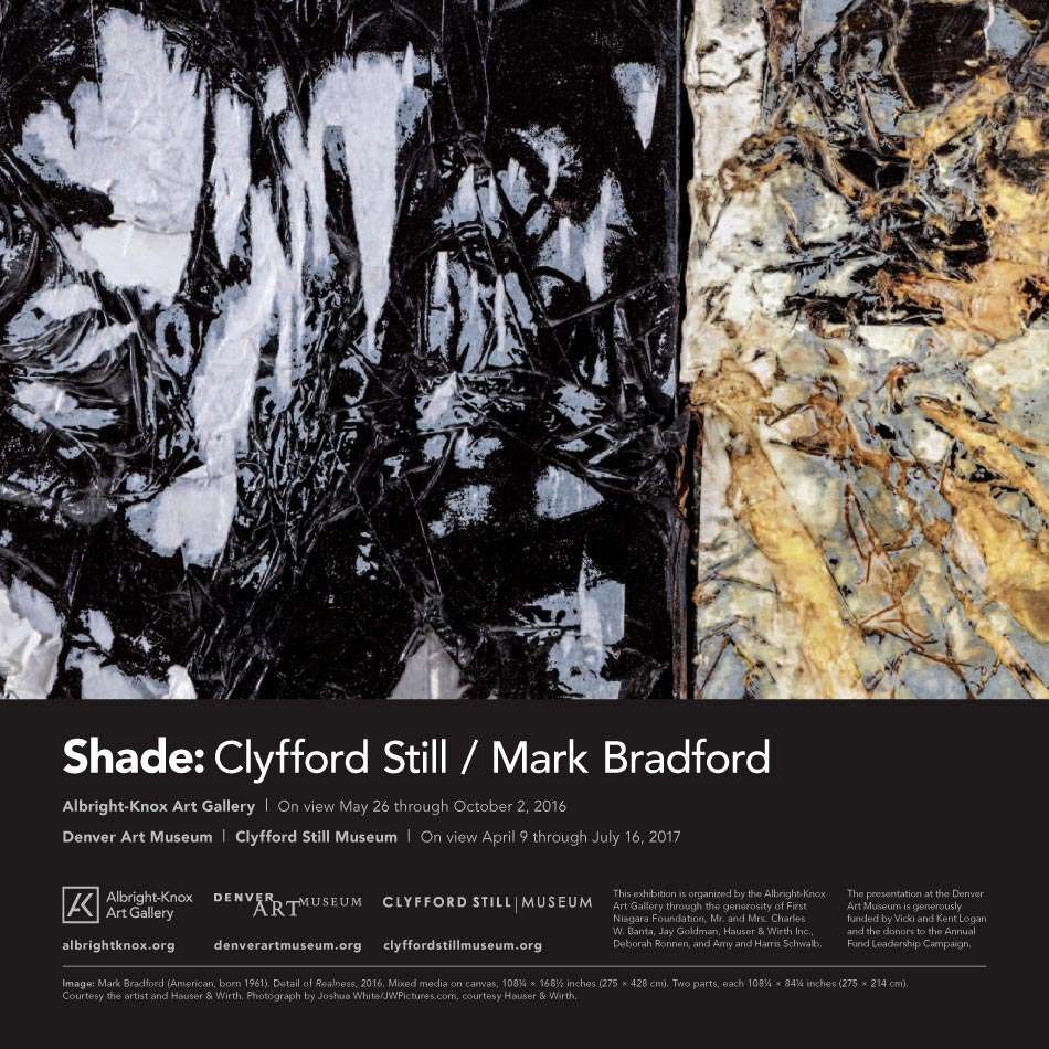 Shade: Clyfford Still / Mark Bradford