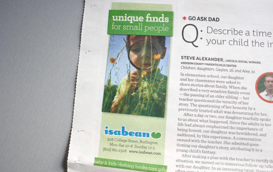 Isabean print ads